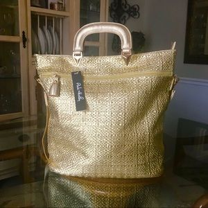 🎀NEW ARRIVAL! 🎀 Gorgeous Large Gold Tote Bag
